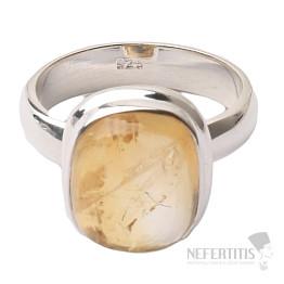 Citrín prsten stříbro Ag 925 R488