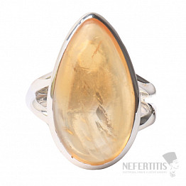 Citrín prsten stříbro Ag 925 R472