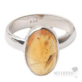 Citrín prsten stříbro Ag 925 R419