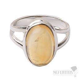 Citrín prsten stříbro Ag 925 R453