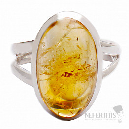 Citrín prsten stříbro Ag 925 R460