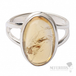 Citrín prsten stříbro Ag 925 R462
