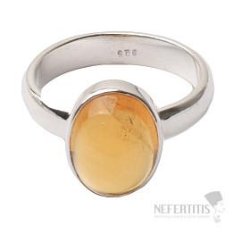 Citrín prsten stříbro Ag 925 R437