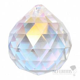 Koule Feng Shui broušený křišťál duhově metalizovaný Bright pearl L