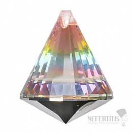 Kužel Feng Shui broušený křišťál duhový Multicolor