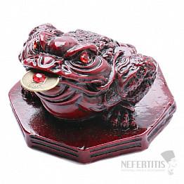 Třínohá peněžní žába na Ba-gua pro bohatství a hojnost