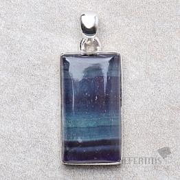 Fluorit multicolor přívěsek stříbro Ag 925 P840