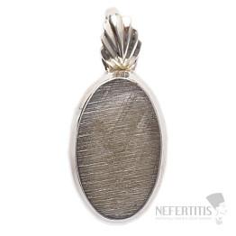 Meteorit Gibeon přívěsek stříbro Ag 925 P178