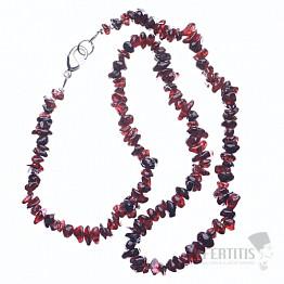 Granát náhrdelník sekaný