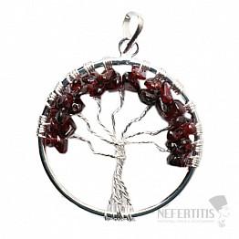 Granát přívěsek Strom života