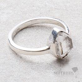 Herkimer diamant prsten stříbro Ag 925 R1976
