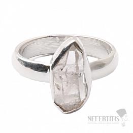Herkimer diamant prsten stříbro Ag 925 R1513