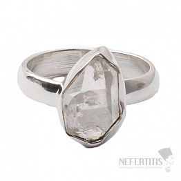 Herkimer diamant prsten stříbro Ag 925 R1524