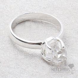 Herkimer diamant prsten stříbro Ag 925 R1878