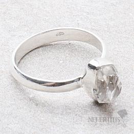 Herkimer diamant prsten stříbro Ag 925 R1897