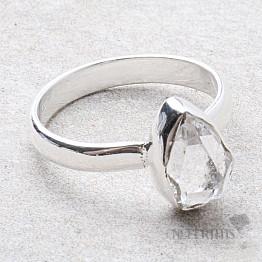 Herkimer diamant prsten stříbro Ag 925 R1922