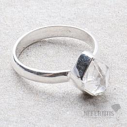 Herkimer diamant prsten stříbro Ag 925 R1930