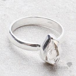 Herkimer diamant prsten stříbro Ag 925 R1951