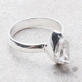 Herkimer diamant prsten stříbro Ag 925 R1952
