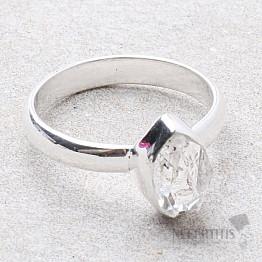 Herkimer diamant prsten stříbro Ag 925 R1954