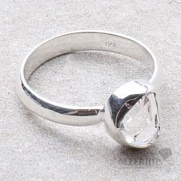 Herkimer diamant prsten stříbro Ag 925 R1959