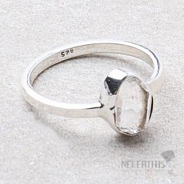 Herkimer diamant prsten stříbro Ag 925 R1982