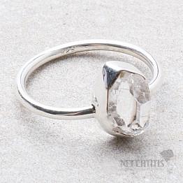 Herkimer diamant prsten stříbro Ag 925 R1983