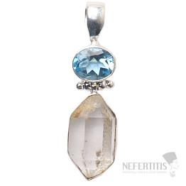 Herkimer diamant design přívěsek stříbro Ag 925 JW85732
