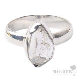 Herkimer diamant prsten stříbro Ag 925 R1563
