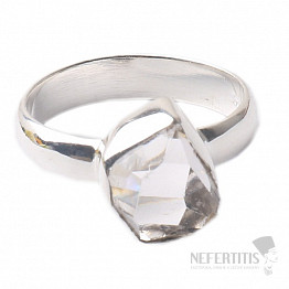 Herkimer diamant prsten stříbro Ag 925 R1588