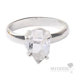 Herkimer diamant prsten stříbro Ag 925 R1641
