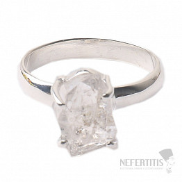 Herkimer diamant prsten stříbro Ag 925 R1655
