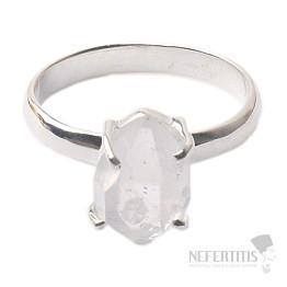 Herkimer diamant prsten stříbro Ag 925 R1657