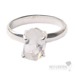 Herkimer diamant prsten stříbro Ag 925 R1659