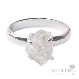 Herkimer diamant prsten stříbro Ag 925 R1664