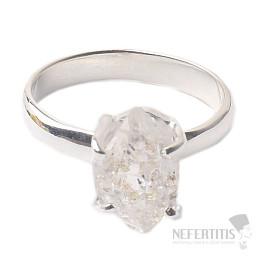 Herkimer diamant prsten stříbro Ag 925 R1703