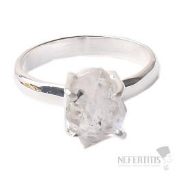 Herkimer diamant prsten stříbro Ag 925 R1716