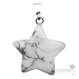 Howlit bílý přívěsek hvězdička