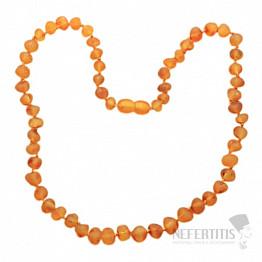Jantar přírodní náhrdelník medová barva