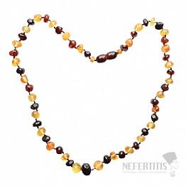 Jantar přírodní náhrdelník multicolor