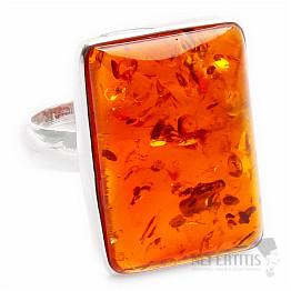 Jantar prsten stříbro Ag 925 R617