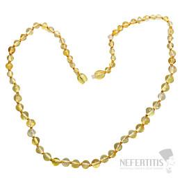 Jantar citronový náhrdelník
