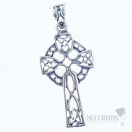 Keltský kříž přívěsek stříbro Ag 925