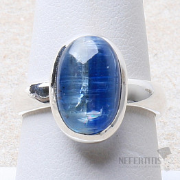 Kyanit modrý prsten stříbro Ag 925 R15