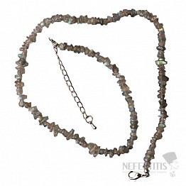 Labradorit náhrdelník sekaný extra AA kvalita