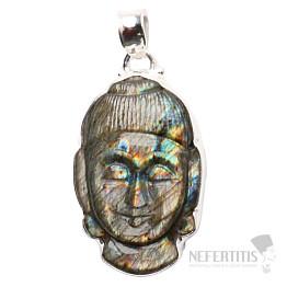 Labradorit Buddha extra přívěsek stříbro Ag 925 P160