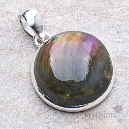 Labradorit purpurový přívěsek stříbro Ag 925 P571