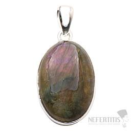 Labradorit purpurový přívěsek stříbro Ag 925 P574