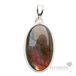 Labradorit purpurový přívěsek stříbro Ag 925 P585