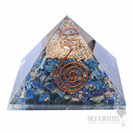 Orgonit pyramida s lapisem lazuli velká s krystalem křišťálu